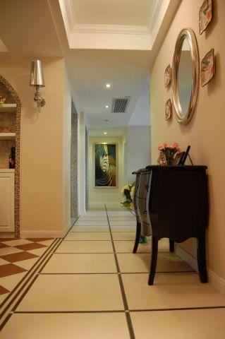玄关门厅混搭风格装潢设计图片