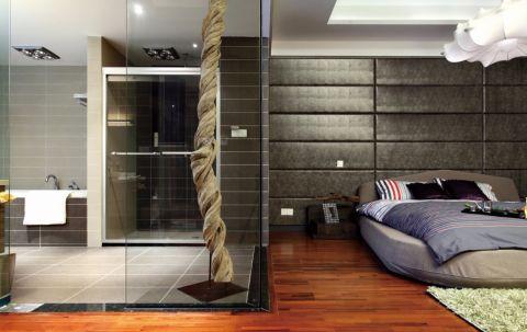 卧室隔断现代风格装潢图片