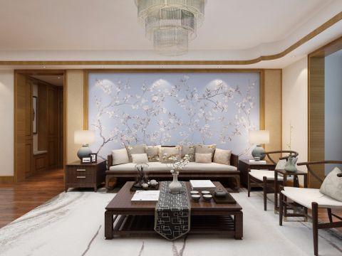 客厅照片墙中式风格装修设计图片