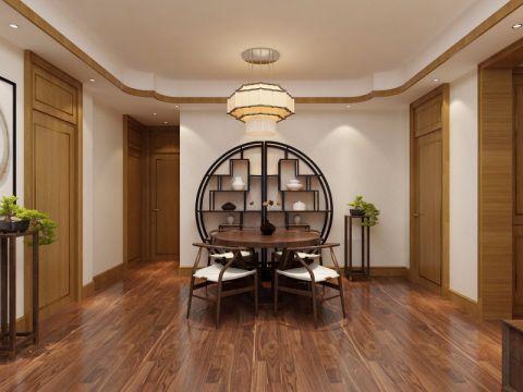 餐厅博古架中式风格装潢设计图片