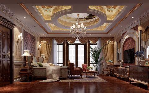 卧室推拉门法式风格装潢效果图