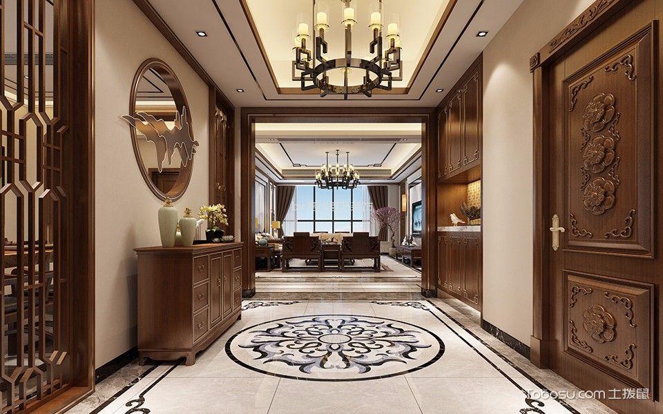 惠州富力丽港中心300平米新中式风格效果图