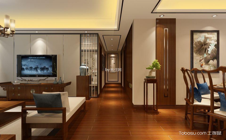 中海锦苑110平米中式风格二居室装修效果图