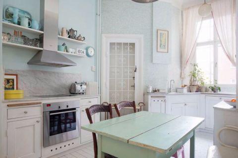 厨房窗帘田园风格装饰设计图片