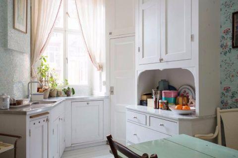 厨房窗台田园风格装潢设计图片