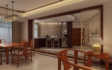 餐厅吧台新中式风格装修设计图片