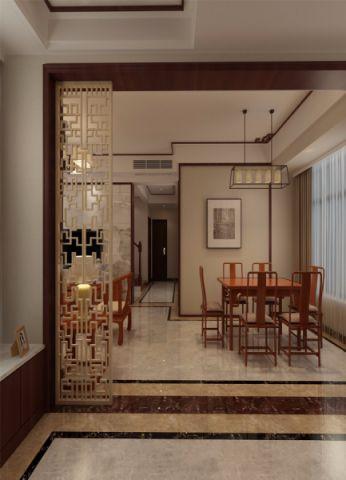 餐厅隔断新中式风格装饰设计图片