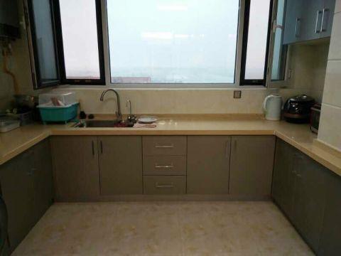 厨房窗台现代简约风格装潢设计图片