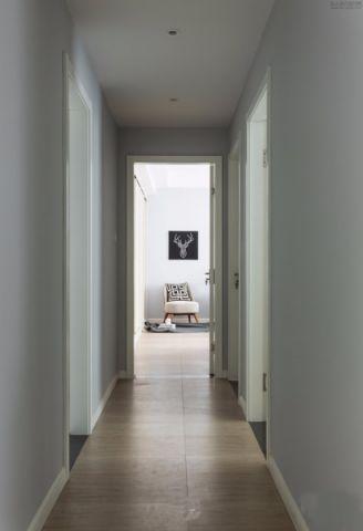玄关走廊北欧风格装潢效果图