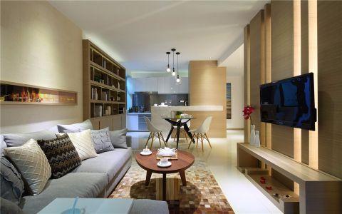 客厅沙发现代简约风格装潢效果图