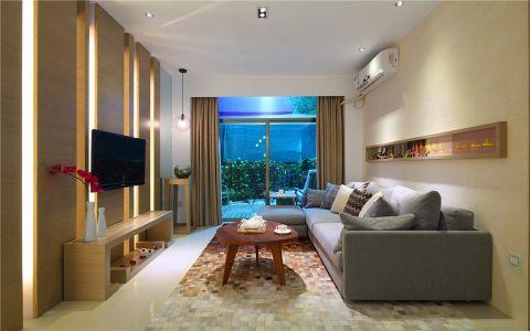 5万预算125平米三室两厅装修效果图