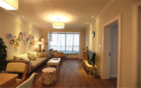 玉带园小区70平混搭风格二居室装修效果图