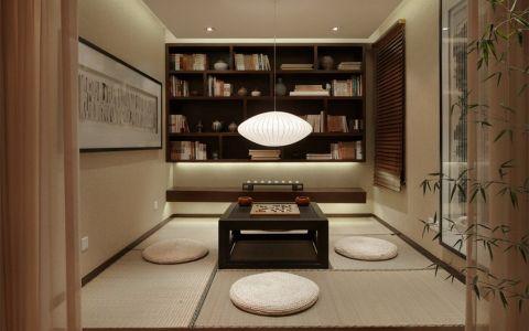 书房榻榻米中式风格装修图片