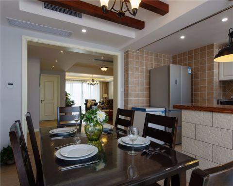 餐厅吊顶美式风格装修设计图片