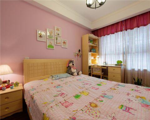 儿童房背景墙美式风格装修效果图
