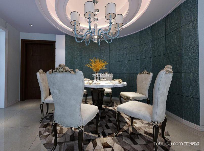格兰新辰108平方简欧风格三居室装修效果图