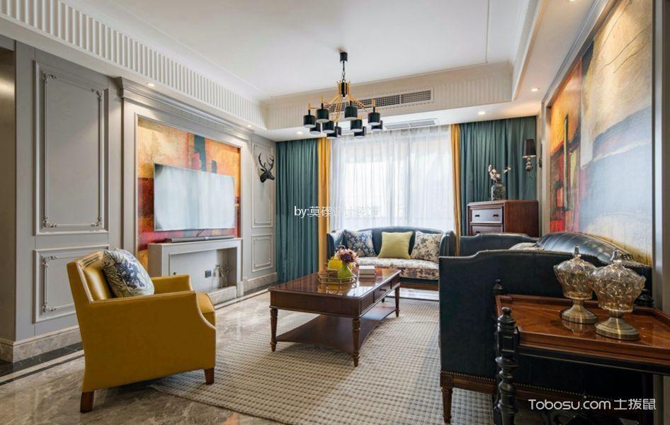 18万预算127平米三室两厅装修效果图