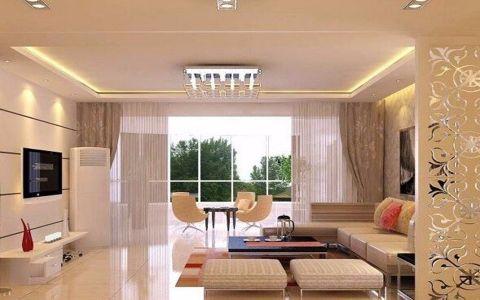 客厅隔断混搭风格装饰设计图片
