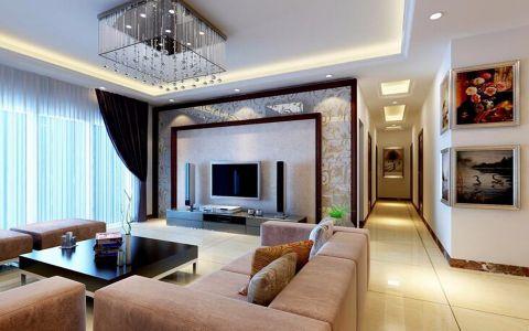客厅走廊简欧风格装潢效果图
