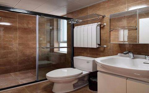 卫生间隔断简欧风格装潢图片