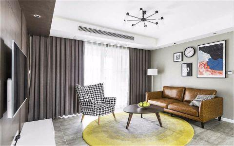 泗港小区现代简约风格三居室装修效果图