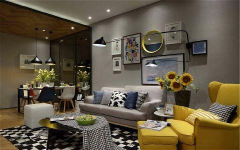 客厅照片墙简约风格装潢图片