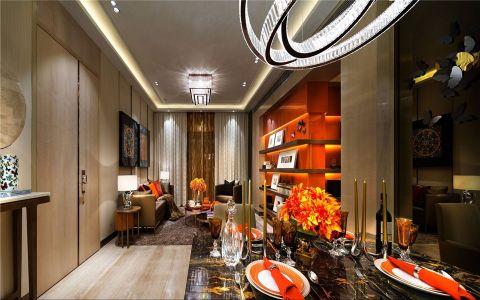 龙涛香榭丽园126平方现代简约风格装修效果图