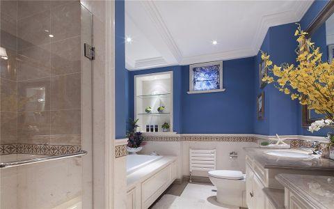 卫生间照片墙美式风格装潢设计图片