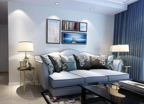 客厅照片墙简欧风格效果图