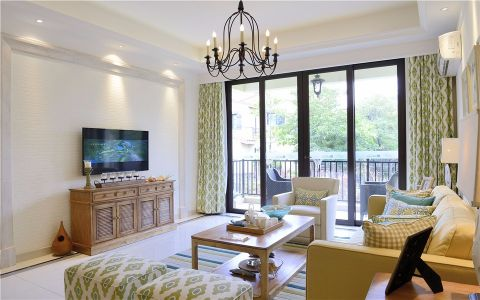 客厅窗帘现代简约风格装饰效果图