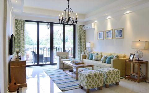 客厅推拉门现代简约风格装潢效果图