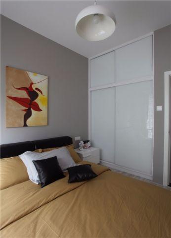 卧室推拉门现代简约风格装修图片