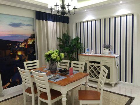 餐厅窗帘地中海风格装潢效果图