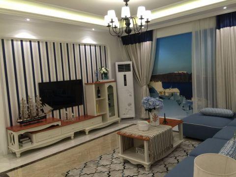 客厅电视柜地中海风格装修图片