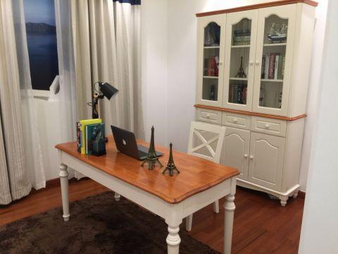 书房窗帘地中海风格装潢图片
