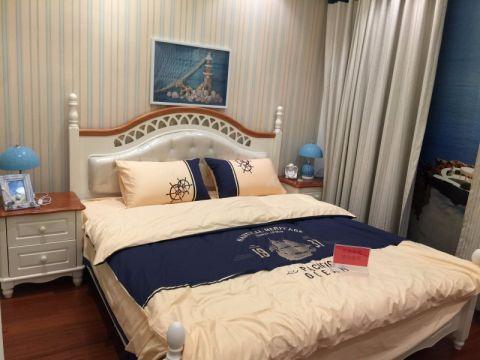 卧室照片墙地中海风格效果图