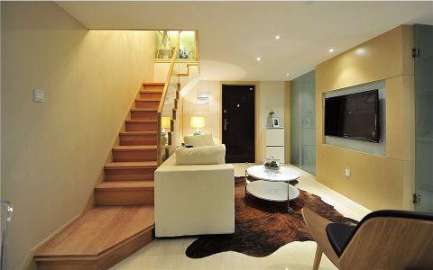 奢华大气黄色楼梯效果图