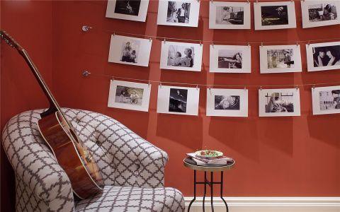 书房照片墙美式风格装潢设计图片