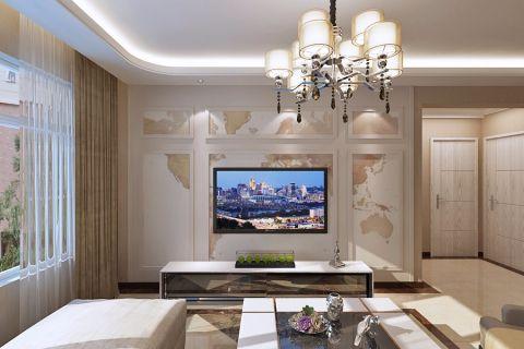 江北万达城62平米二室一厅现代港式风格装修效果图