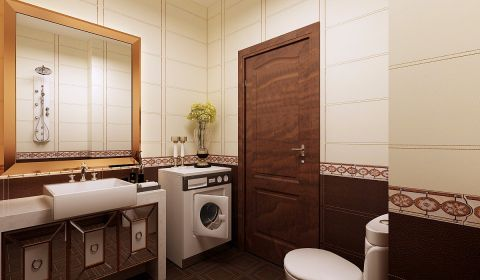 卫生间背景墙现代风格效果图