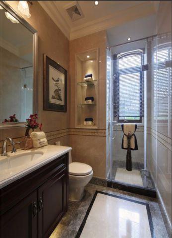 卫生间窗台美式风格装修设计图片