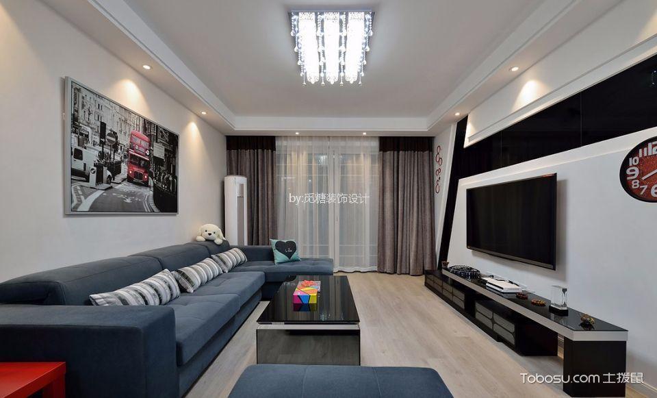 四季康城现代简约风格两室两厅装修效果图