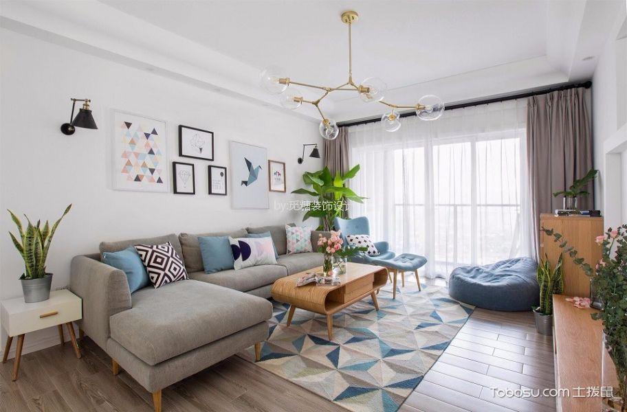 尚景苑现代风格两室两厅装修效果图