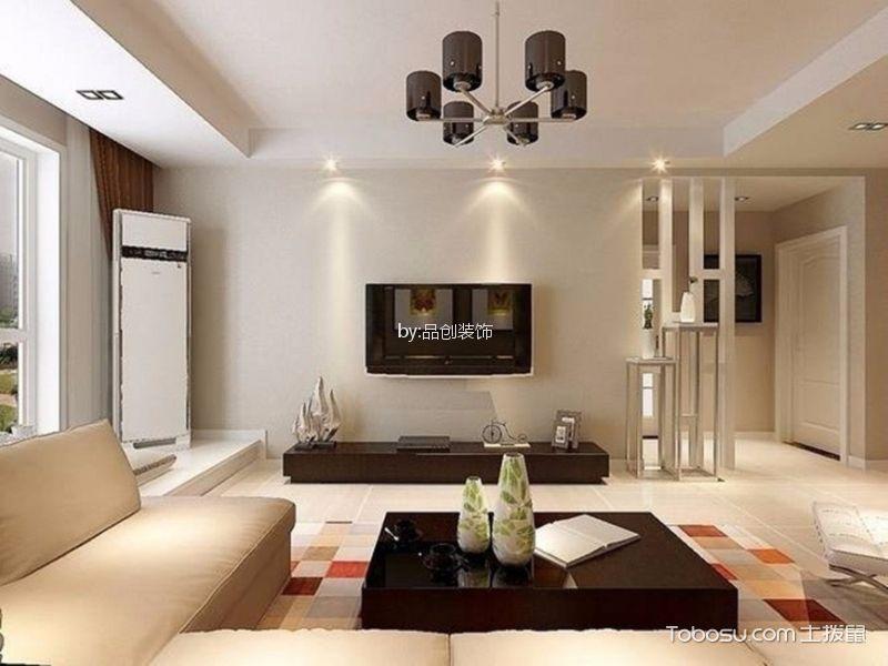 8.5万预算90平米两室两厅装修效果图 