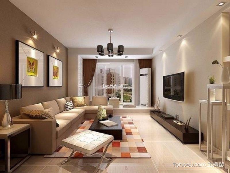 华明家园90㎡简约风格两室一厅装修效果图 