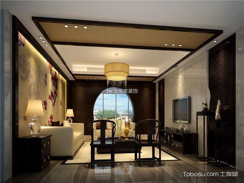 中粮大道90平现代简约风格二居室装修效果图