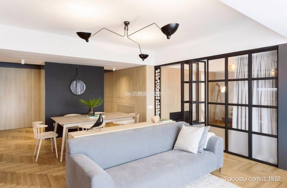 富丰新城现代风格两室两厅装修效果图