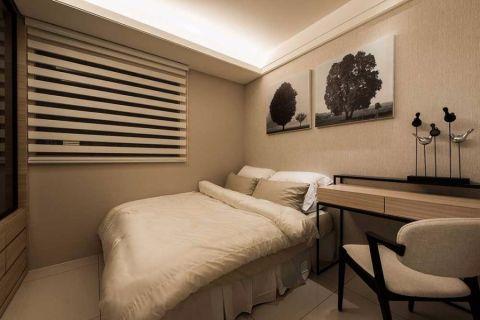 卧室书桌现代简约风格装修设计图片