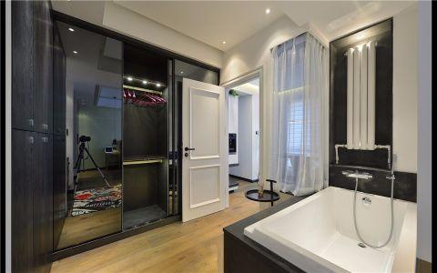 卫生间窗帘现代简约风格装饰图片