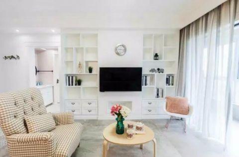 客厅窗帘北欧风格装饰设计图片